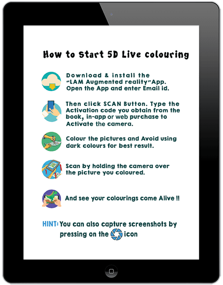 augmented Reality 5D Live Colouring Book